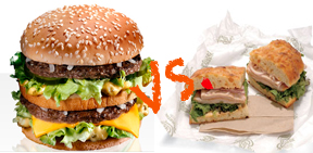 McDonalds vs. Panera healthy food