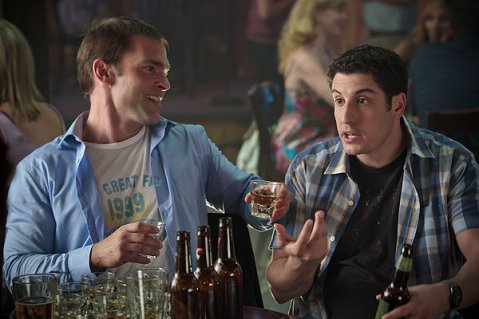 Stifler and Jim Drinking